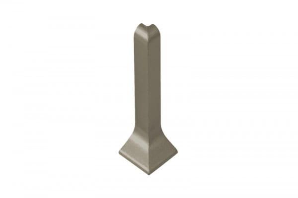 Außenecke für Sockelleisten 60 mm titan eloxiert (matt)