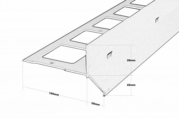 Balkonwinkel Y-Form Splitt Höhe 53 Zeichnung