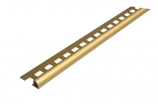 Viertelkreisprofil aus Aluminium 250 cm 6 mm gold eloxiert