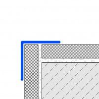 Zeichnung Eckschutzwinkel einfach gekantet