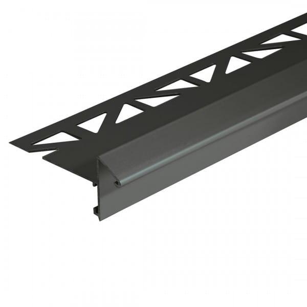 Balkonwinkelprofil mit Tropfkante 13 mm ungebohrt anthrazit 18 mm