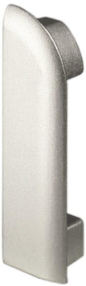 DURAL Endkappen für Arbeitsplattenprofile 9 mm silber links eloxiert (matt)
