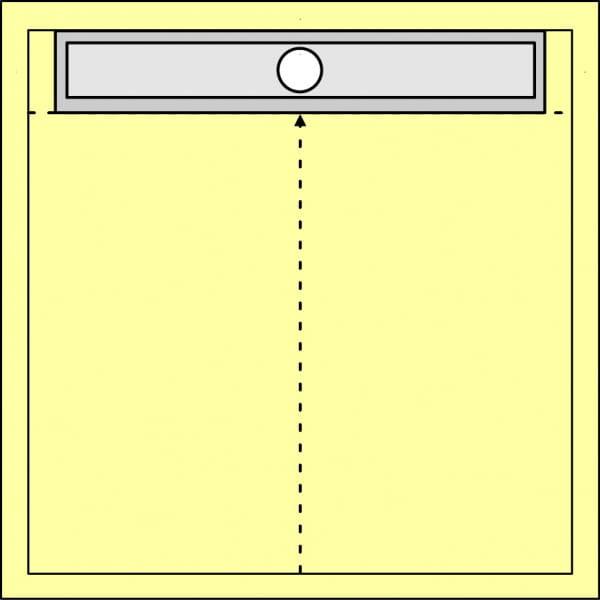 Duschboard quadratisch_1-seitig