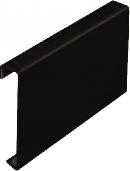 Balkonverbinder ohne Tropfkante Aluminium beschichtet grau-braun