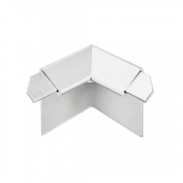 Innenecke für Balkonwinkelprofil mit Tropfkante silber 18 mm