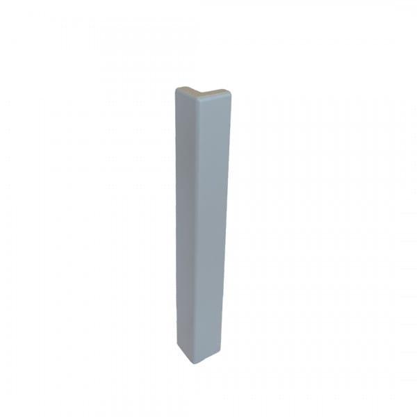 Außenecke für Balkonwinkelprofil T-Form 40 mm platingrau