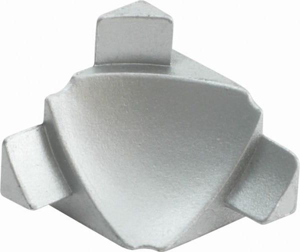 Innenecken 3D für Anschlussprofil (Blister) silber, H= 8 mm