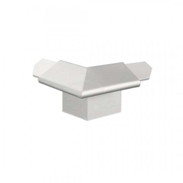 Außenecke für Balkonwinkelprofil mit Tropfkante silber 18 mm