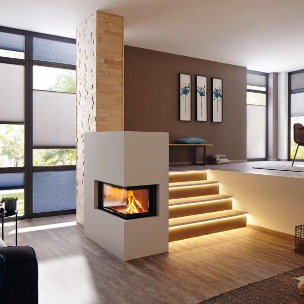 DURAL LED Treppenprofil im Wohnzimmer