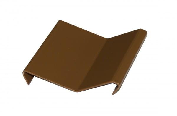 Verbinder für Balkonprofil Y-Form Dickbett 65 mm braun