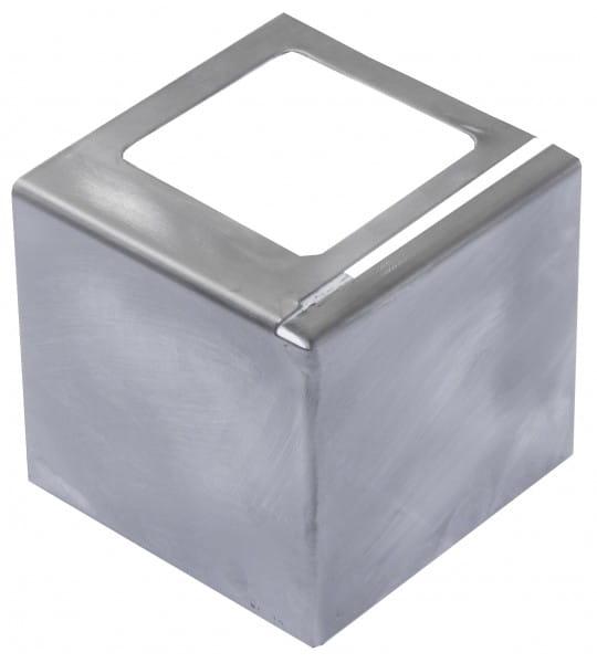 Eckstück für Balkonprofil L-Form Edelstahl 55 mm