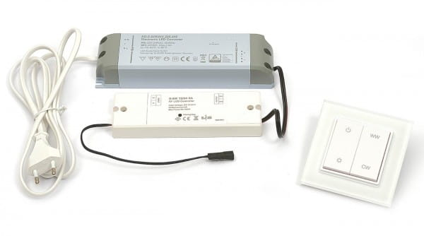 DURAL LED Anschluss Set Wandschalter 60 Watt (für ca. 7,5 m Strip)