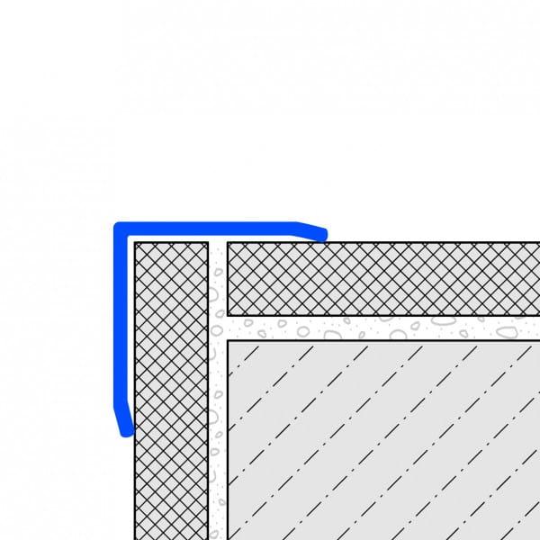 Zeichnung Eckschutzwinkel dreifach gekantet