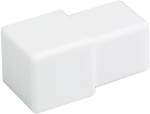 Quadratecken aus PVC (Blister) 9 mm weiß