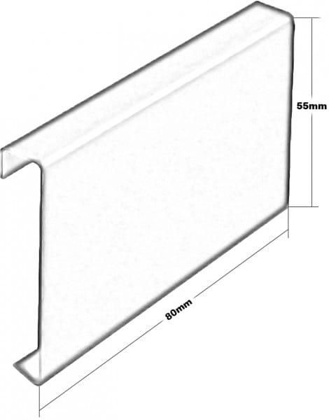 Balkonverbinder T-Form Höhe 55 Zeichnung