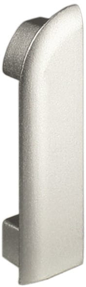 DURAL Endkappen für Arbeitsplattenprofile 9 mm silber rechts eloxiert (matt)