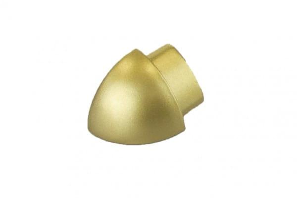 Runde Außenecken aus Aluminium (Blister) 10 mm gold eloxiert