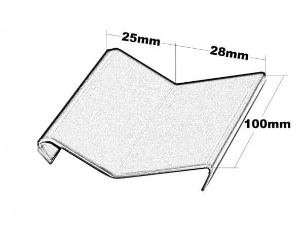 Balkonverbinder Y-Form Höhe 53 Splitt Zeichnung