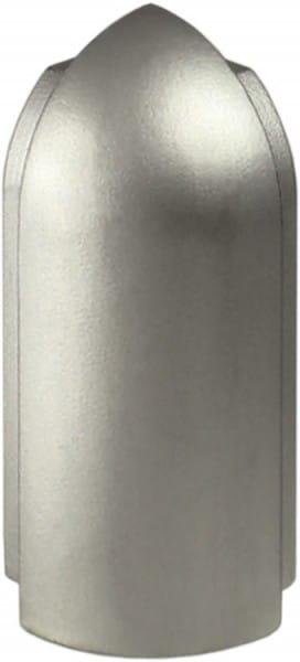 Arbeitsplattenprofil Außenecke silber-eloxiert