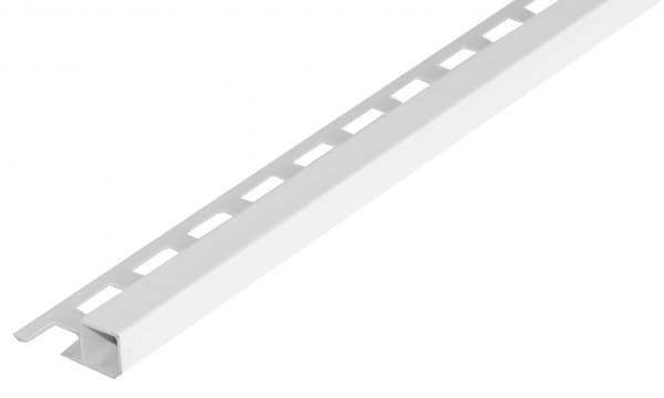 Quadratprofil aus PVC 7 mm weiß