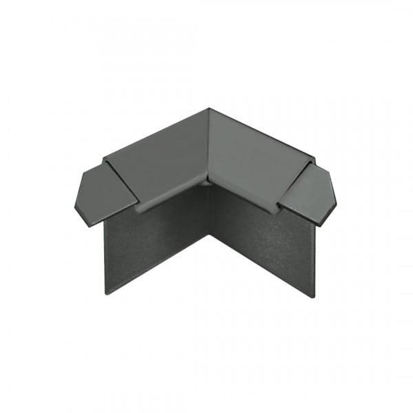 Innenecke für Balkonwinkelprofil mit Tropfkante anthrazit 18 mm