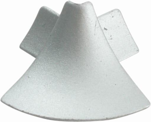 Außenecken für Anschlussprofil (Blister) silber, H= 8 mm