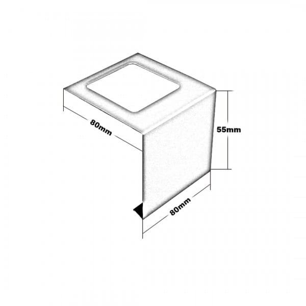 Balkonverbinder L-Form Höhe 55 Zeichnung