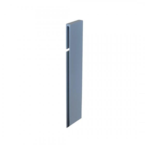 Verbinder für Balkonwinkelprofil T-Form 40 mm platingrau