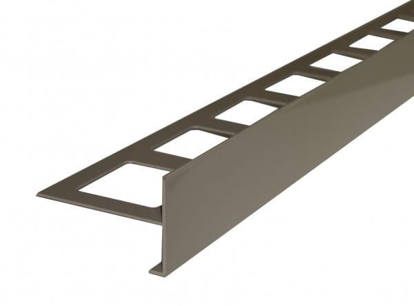 Balkonprofil ohne Tropfkante Aluminium beschichtet beige