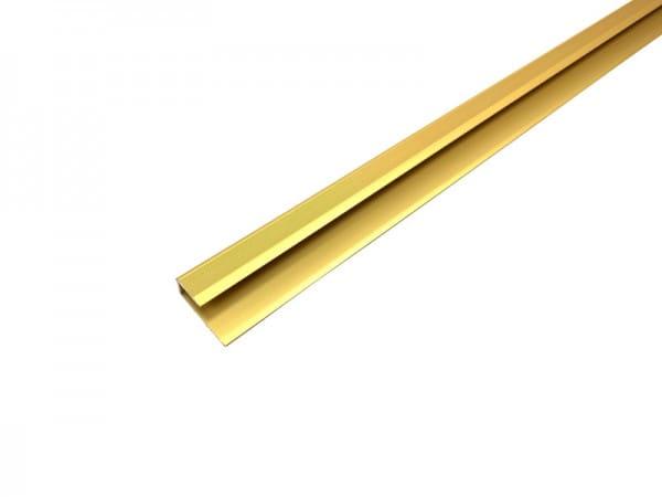 Parkettabschlussprofil aus Aluminium gold