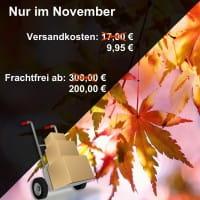 Frachtkosten-Aktion im November!